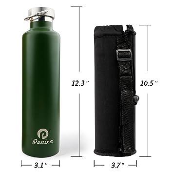 Amazon.com: ponixa termo de botella de botella de agua con ...