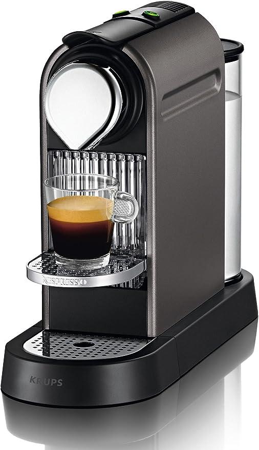 Nespresso Citiz XN 740BPR4, cafetera de cápsulas, 19 bares, Krups, apagado automático, intuitiva, elegante diseño, color titan: Amazon.es: Hogar