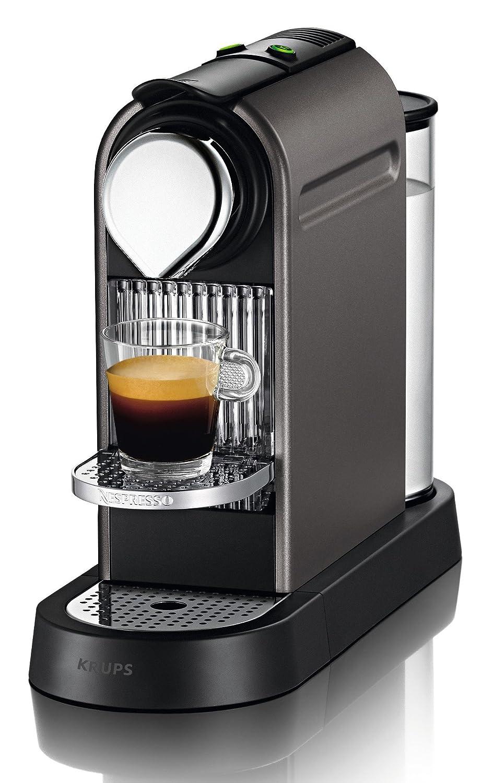 Nespresso Citiz XN 740BPR4, cafetera de cápsulas, 19 bares, Krups, apagado automático, intuitiva, elegante diseño, color titan