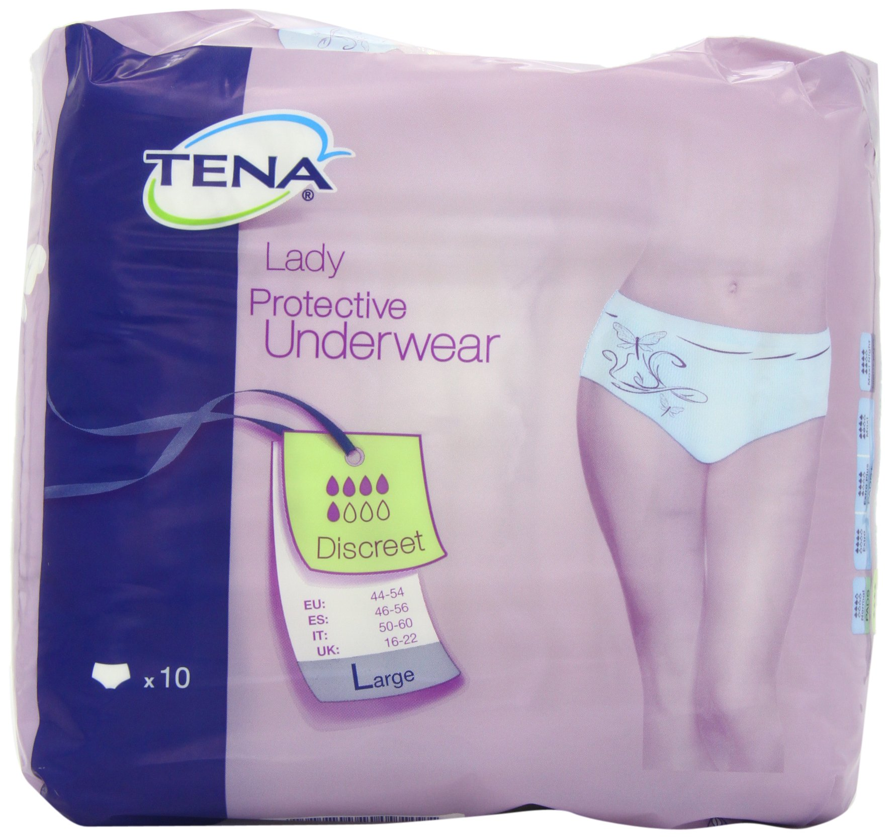 TENA Protective Underwear Discreet Large - 3 x Packs of 10 (30 Protective)