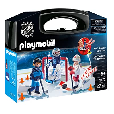 PLAYMOBIL NHL Shootout Carry Case: Toys & Games