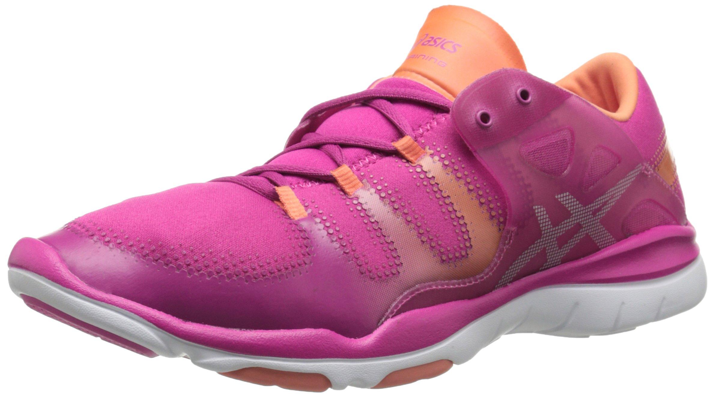 ASICS Women's Gel Fit Vida Fitness Shoe, Berry/Silver/Melon, 9.5 M US