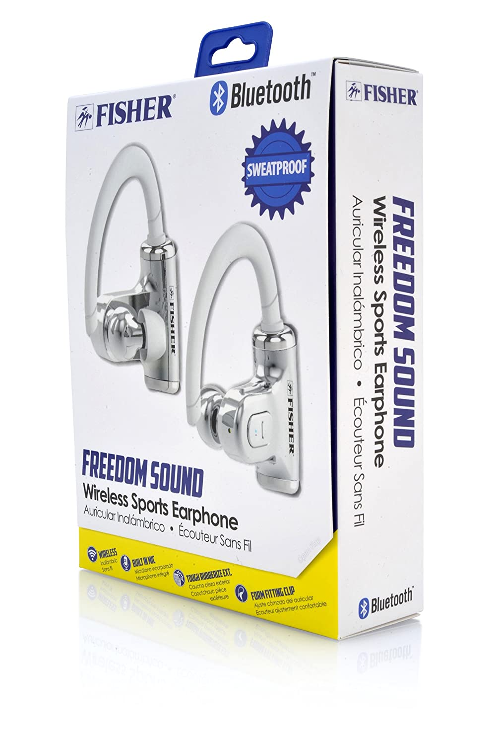 Amazon.com: Fisher Wireless Sports Earphone, Sweatproof, Form Fitting Clip to Ear, Built-In Microphone: Electronics