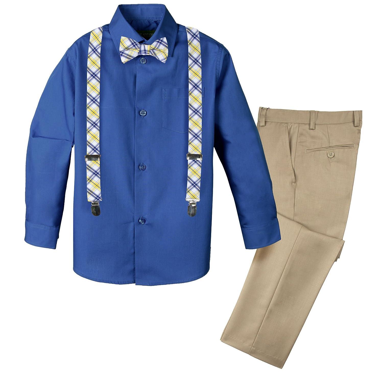 hot Spring Notion Boys' 4-Piece Dress up Pants Set supplies