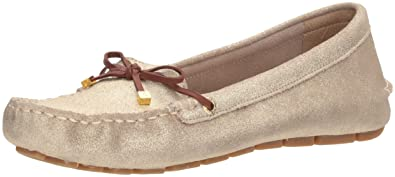 SPERRY Women s Katherine Leather Driving Style Loafer Gold 5 Medium US