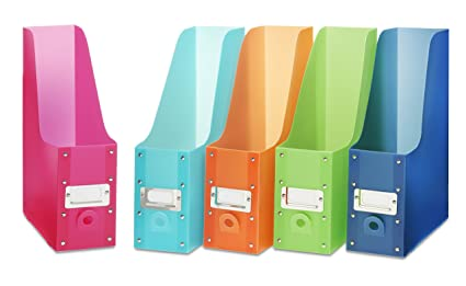 Merveilleux Whitmor Magazine Storage Desk Organizers   Multicolored (Set Of 5)