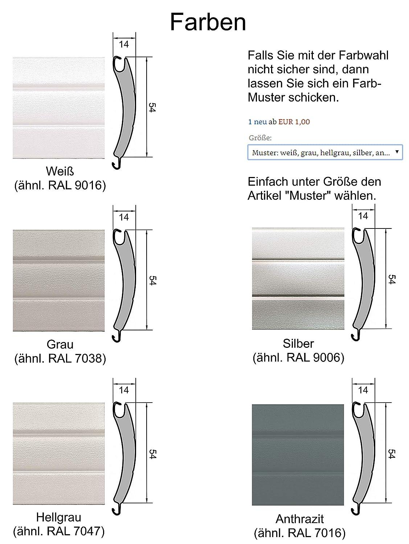 Rollladenpanzer ALU Maxi Maxi Maxi weiß (54 x 14mm), Maßanfertigung nach Kundenwunschmaß  105cm Breite x 160cm Höhe - durch smarotech® Deutschland B07NZ21M86 Fensterlden a07330