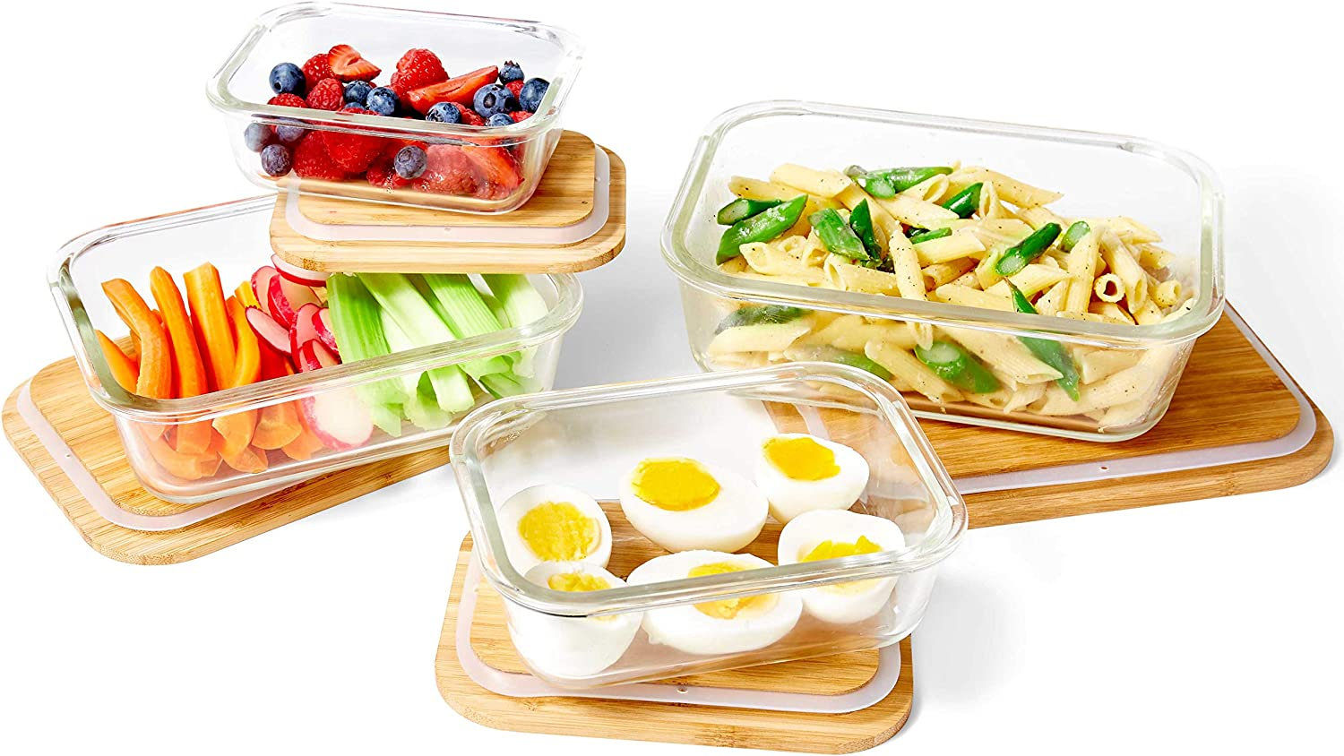 Amazon Com Nummyware Plastic Free Glass Food Containers With