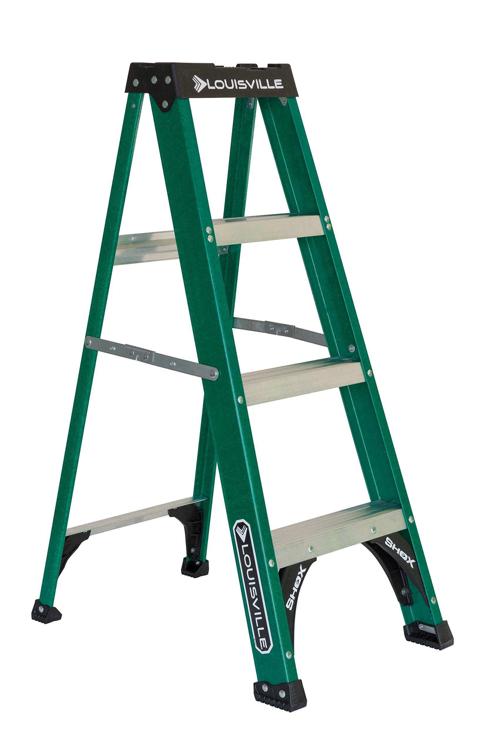 Louisville Ladder FS4004 225-Pound Duty Rating Fiberglass Step Ladder, 4-Foot by Louisville Ladder