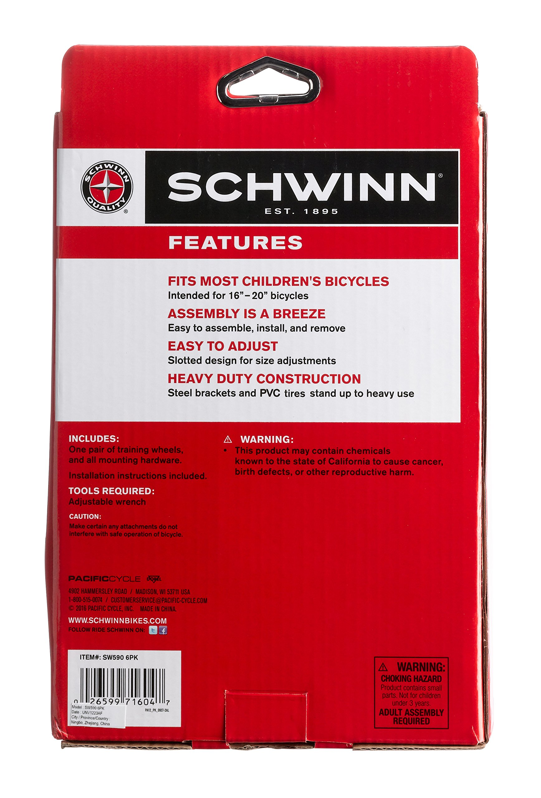 Schwinn SW590 6PK Training Wheels 16'' - 20'' by Schwinn (Image #6)