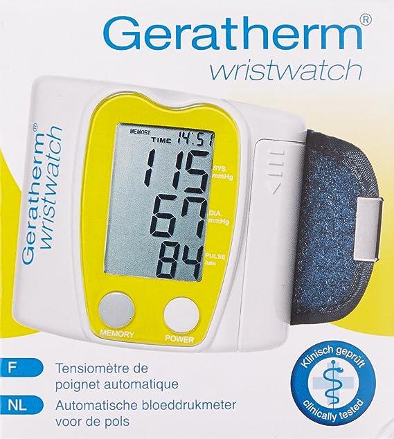 Geratherm wristwatch KP-6130 - Tensiómetro automático para muñeca: Amazon.es: Salud y cuidado personal