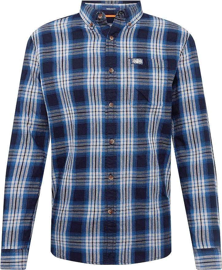 Superdry Workwear Camisa Hombre Blue Check XXXL: Amazon.es: Ropa y accesorios