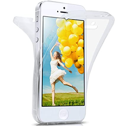 moex Apple iPhone 5S | Hülle Silikon Transparent 360 Grad Double Side Cover Dünne Schutzhülle Slim Handyhülle für iPhone 5/5S