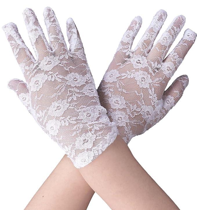 Women's Summer Elegant & Dressy Short Lace Gloves