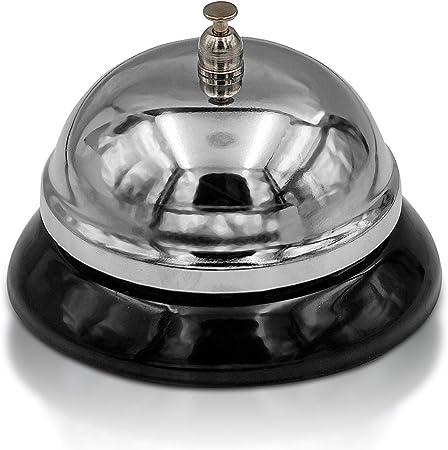 Compra Brynnberg Campana Timbre de recepción Hotel Mesa Servicio Clasico de Acero para Llamador de Servicio (1x Campana) en Amazon.es