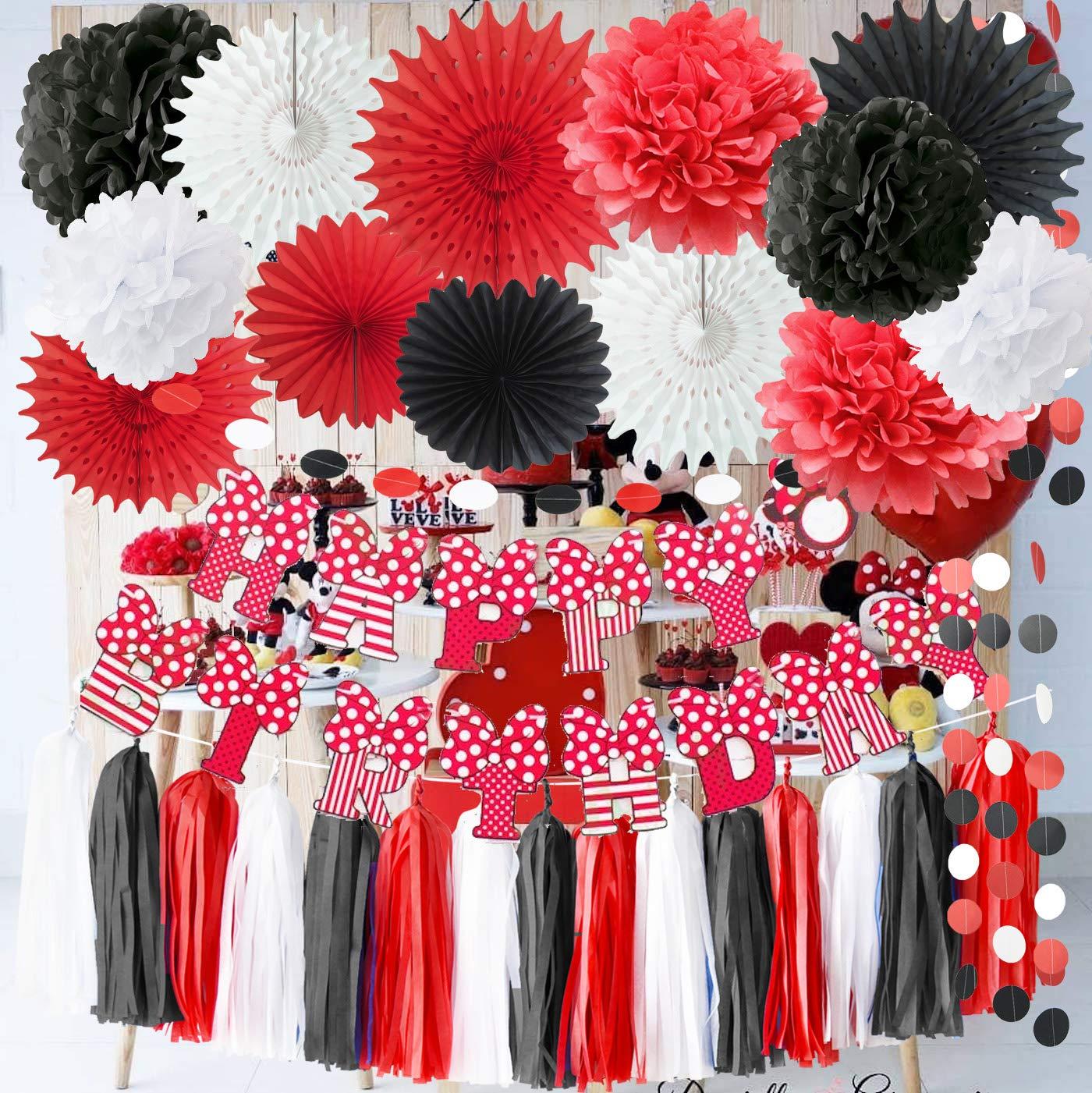 Red Minnie Mouse Party Supplies - Decoración para fiesta de ...