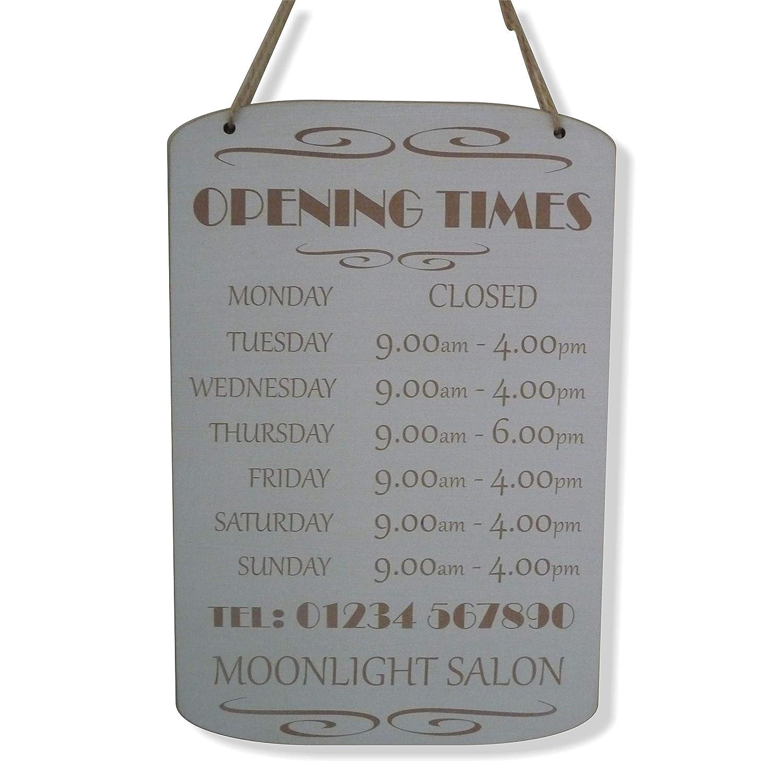 Personalizable horas de apertura veces apertura tienda señal ...
