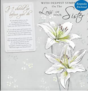 Hallmark sympathy card loss of your sister medium amazon with deepest sympathy on the loss of your sister card and keepsakebb4 thecheapjerseys Gallery