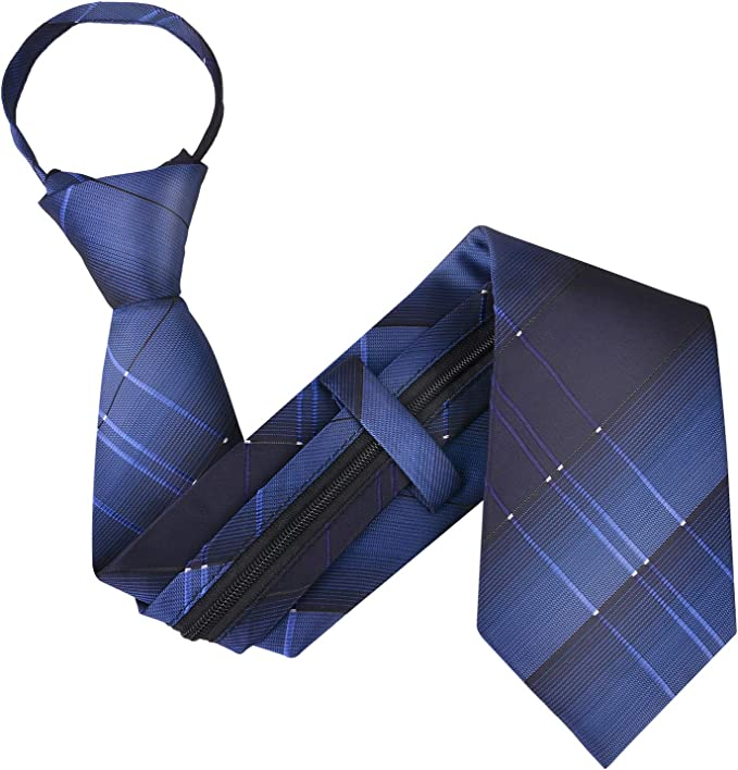 New Kids Boys Zipper up Adjustable Pre-tied Necktie green Black Stripes formal