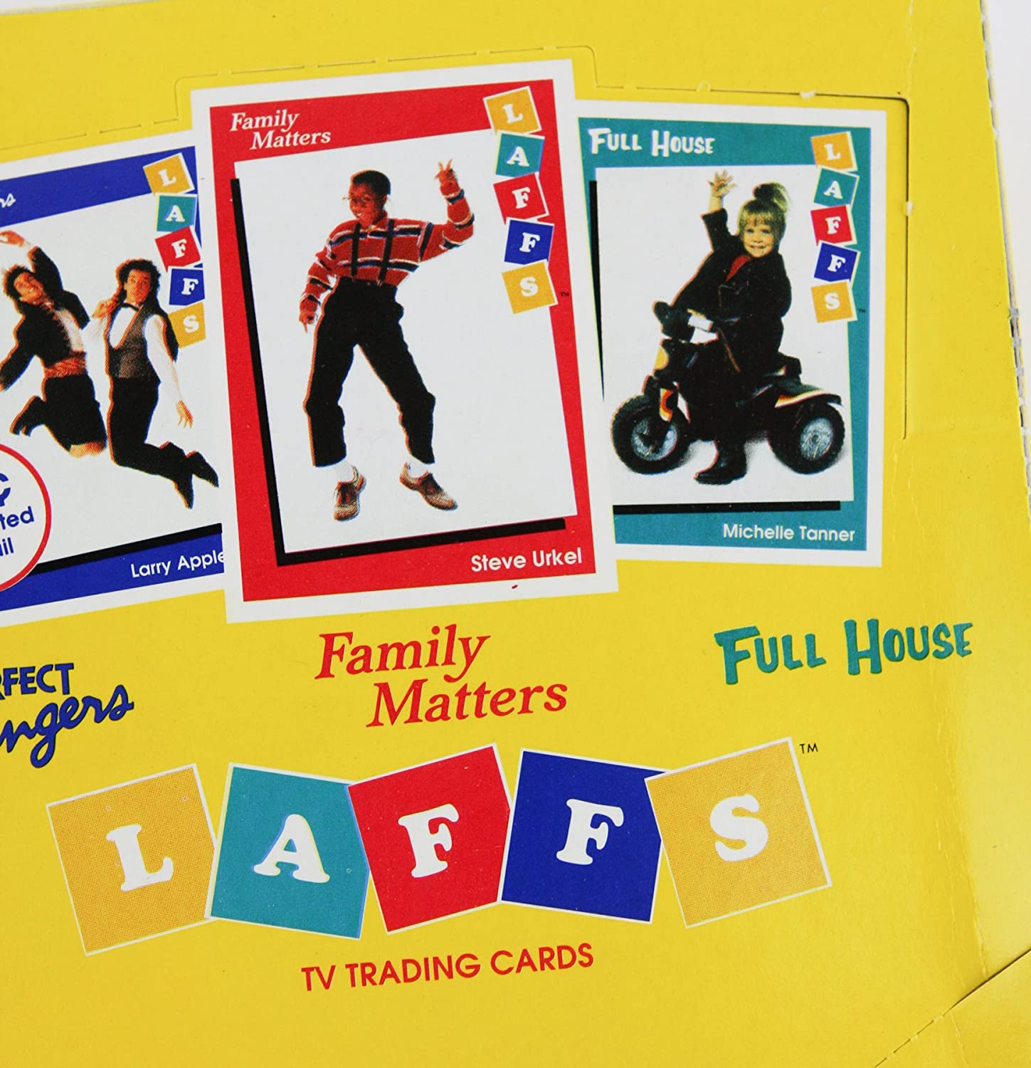 Two Laffs Trading Cards Packs Featuring Shows Perfect Strangers , Family Matters , and Full House Tv Shows 1991