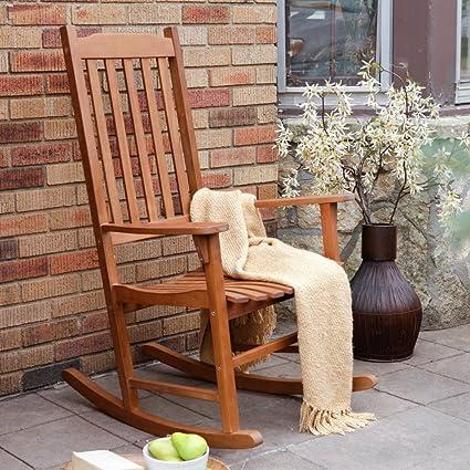 Amazon.com : Coral Coast Indoor/Outdoor Mission Slat Rocking Chair ...