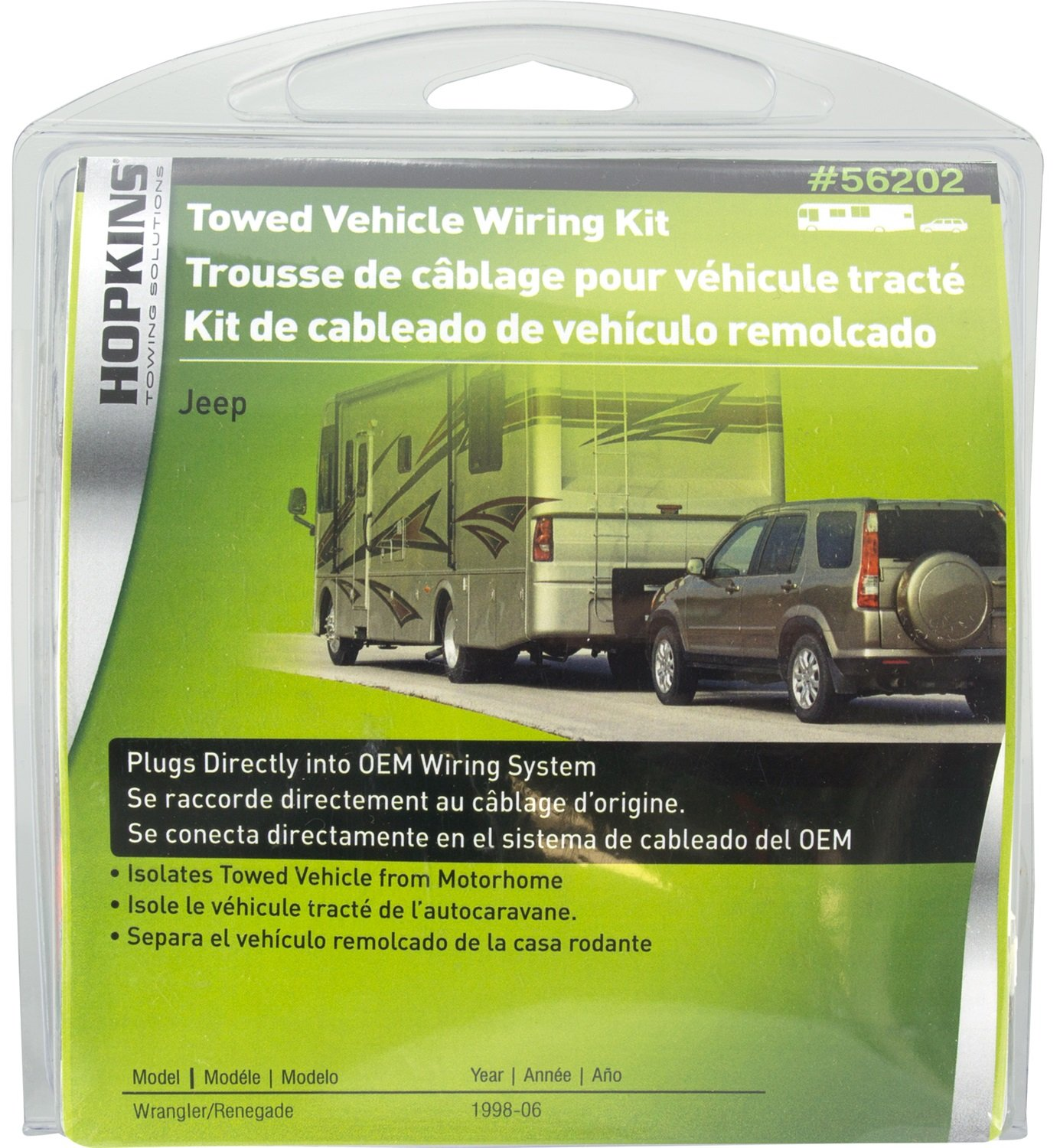 amazon com hopkins 56202 plug in simple towed vehicle wiring kit rh amazon com