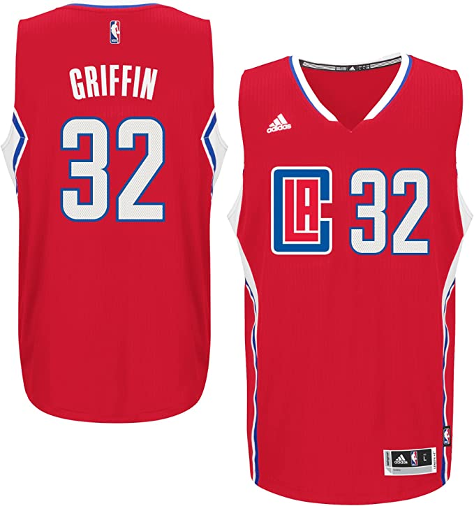 Red 8 Small Outerstuff NBA Los Angeles Clippers Blake Griffin Youth Boys Replica Player Road Jersey
