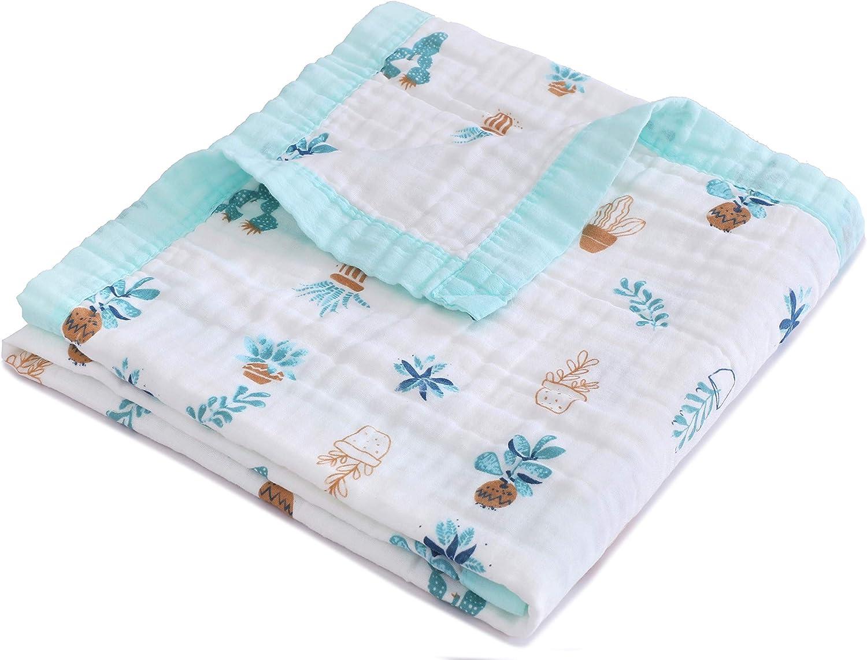 Jay & Ava Manta de muselina para bebé, algodón orgánico, 4 capas ...