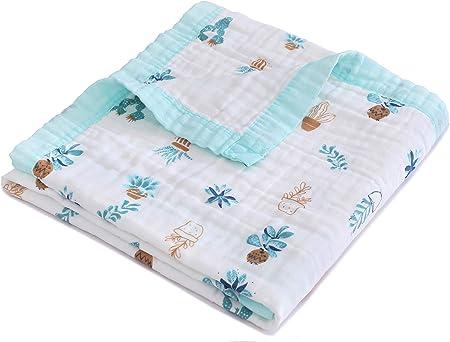 Jay & Ava Manta de muselina para bebé, algodón orgánico, 4 capas, manta/colcha de verano, suave, hipoalergénica, transpirable, manta para guardería y cuna, perfecta: Amazon.es: Hogar