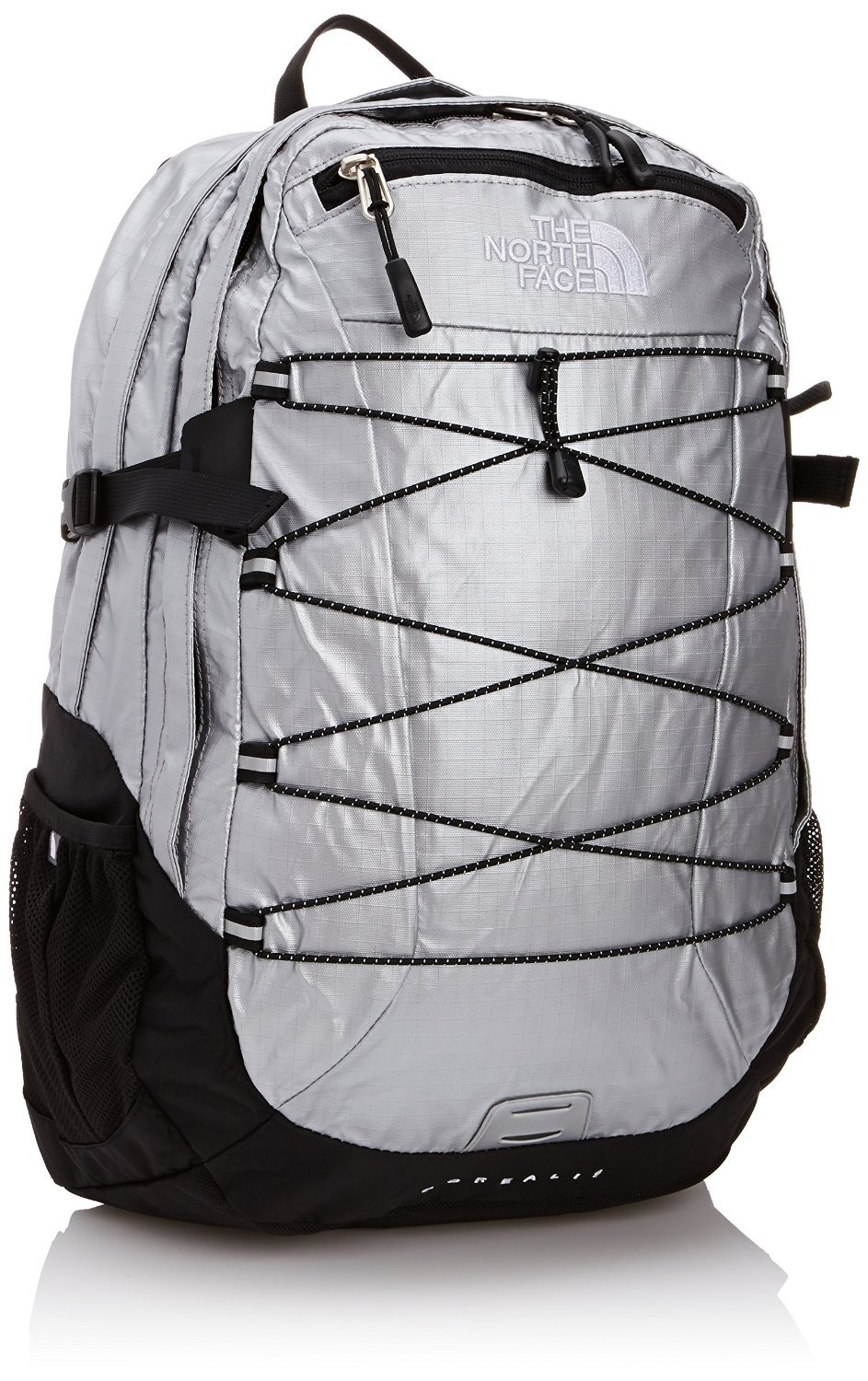 The North Face Borealis Women's Backpack Metallic Silver Ripstop / TNF Black OS