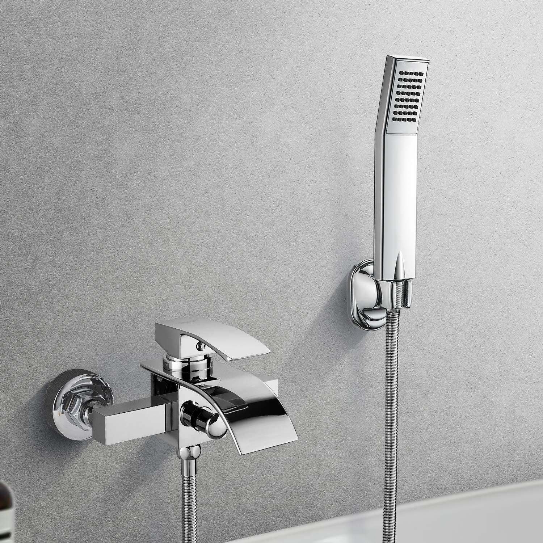 BONADE Grifo de la bañera la Cascada con el Mezclador de la Ducha del Baño del