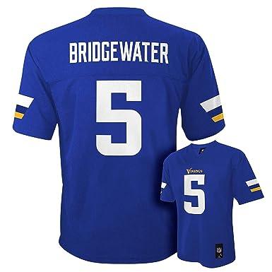 ff07b2651 Teddy Bridgewater Minnesota Vikings  5 Purple NFL Youth Home Mid Tier Jersey  (Small 8