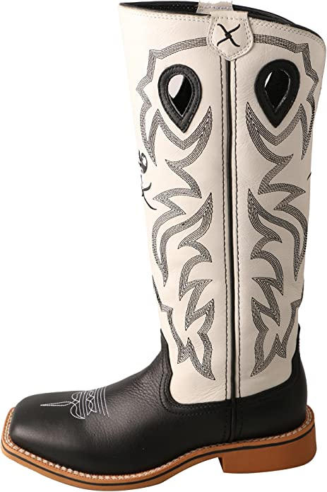 Twisted X Boys and White Buckaroo Cowboy Boot Square Toe Ybk0009
