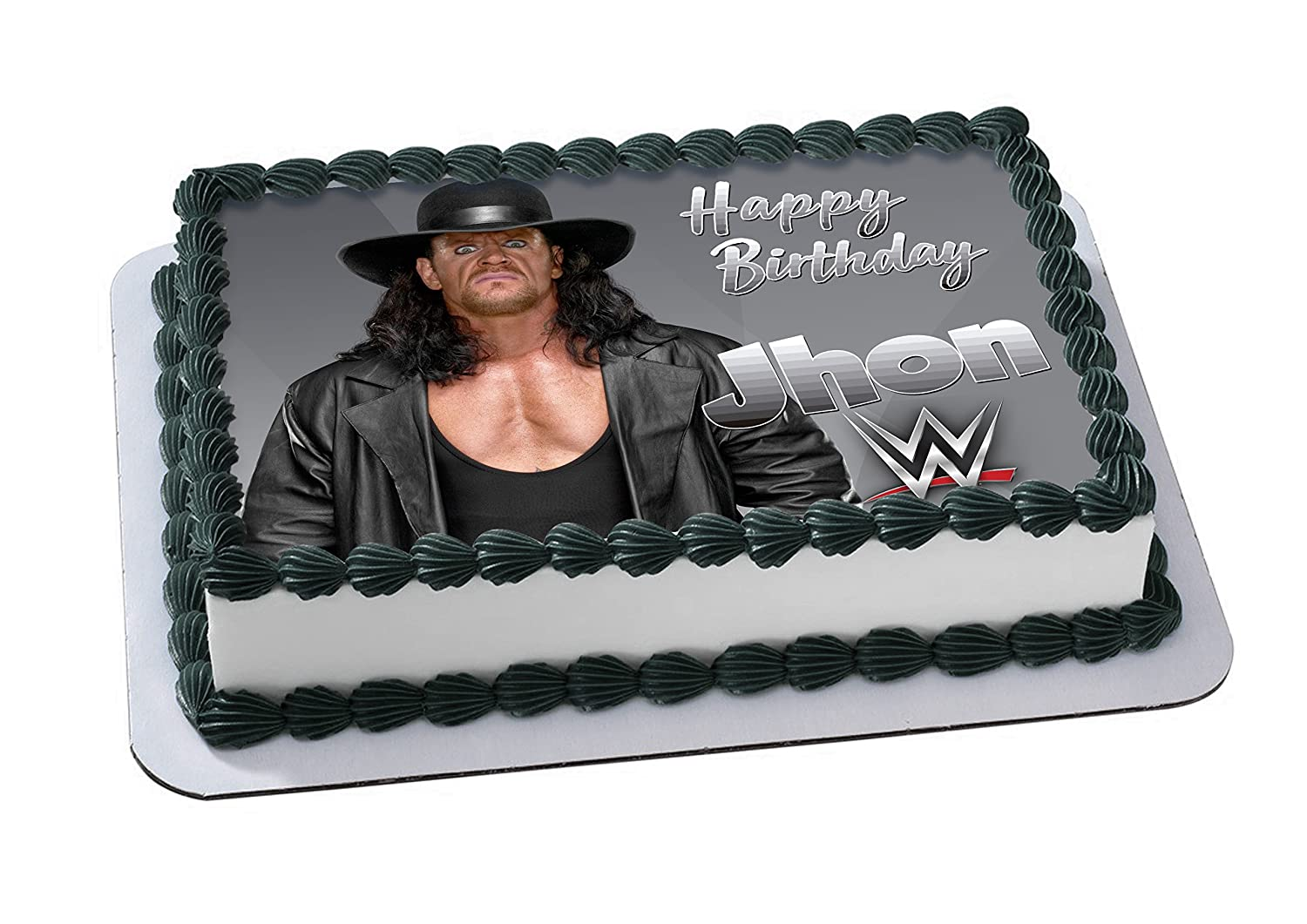 The Undertaker Edible Image Cake Topper Personalized Birthday 14