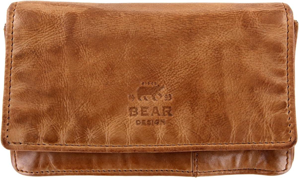 Bear Design Bolso Damas, Cartera CL782 Cuero lavado Vintage Look (15/9/3 cm)