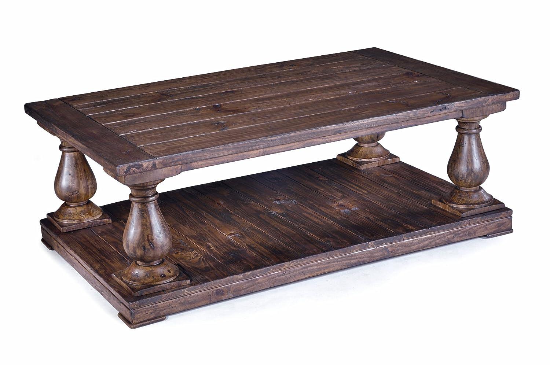 amazoncom magnussen t169543 densbury natural pine finish wood rectangular cocktail table kitchen u0026 dining