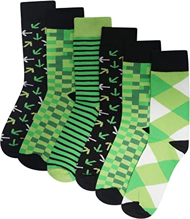 Mens//Boys 6 Pack Retro Games Socks Cotton Rich Designer Socks