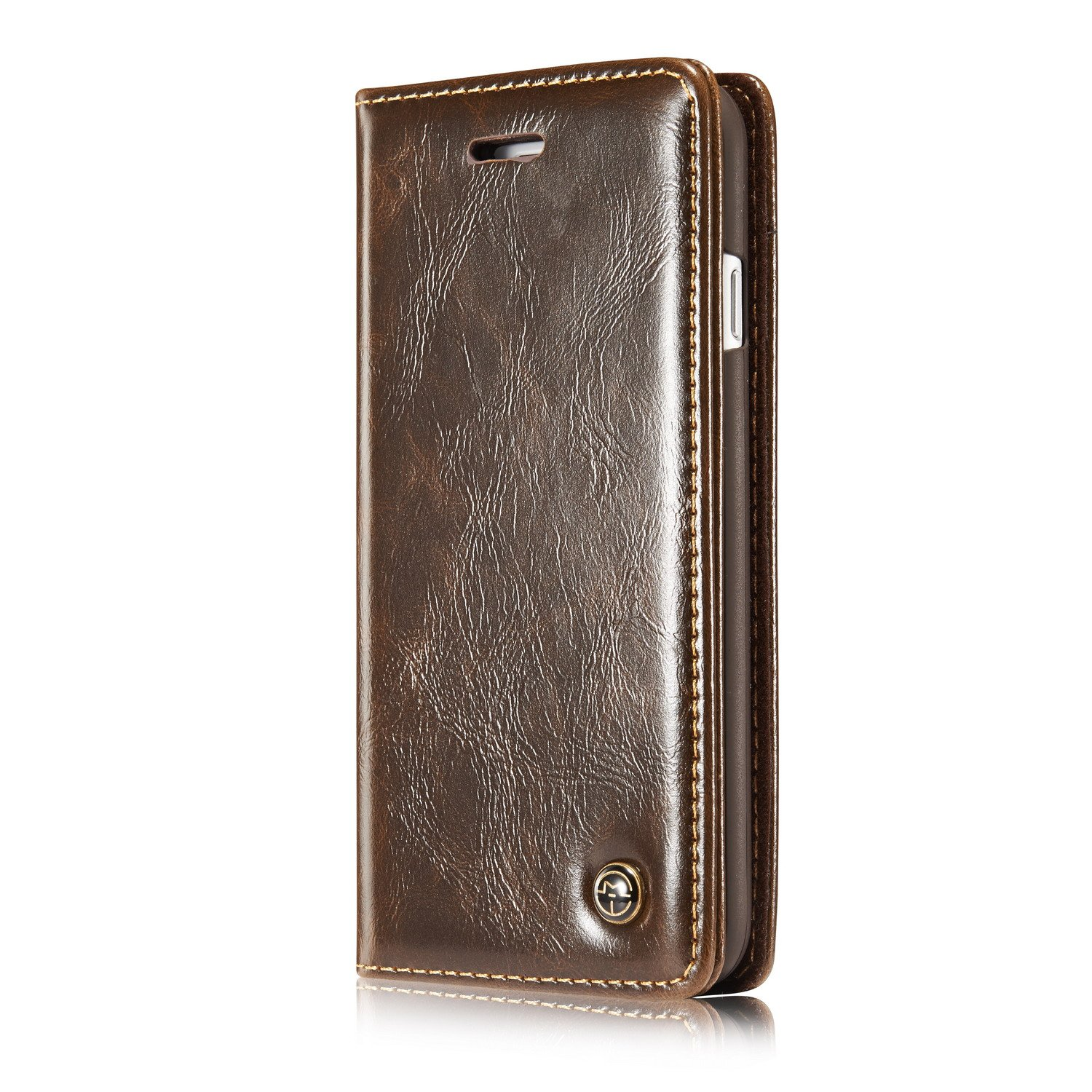 iPhone 8 Wallet Case,XRPow iPhone 7 Magnetic Folio Flip Leather Wallet Stand Smart Protective Case with Card Slot Holder for iPhone 7/8 4.7inch (Brown)