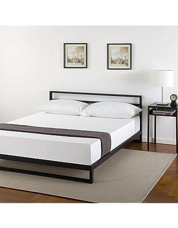 Zinus Trisha 7 Inch Platforma Bed Frame With Headboard / Mattress  Foundation / Box Spring Optional