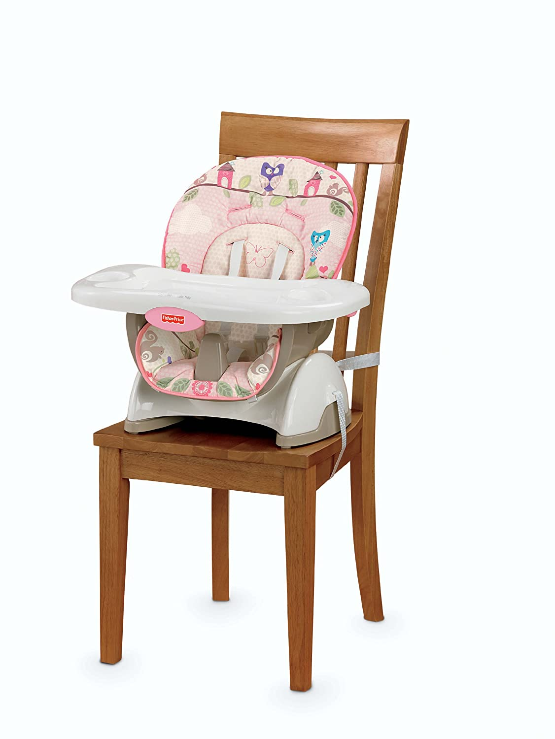 amazon com fisher price space saver high chair pink childrens