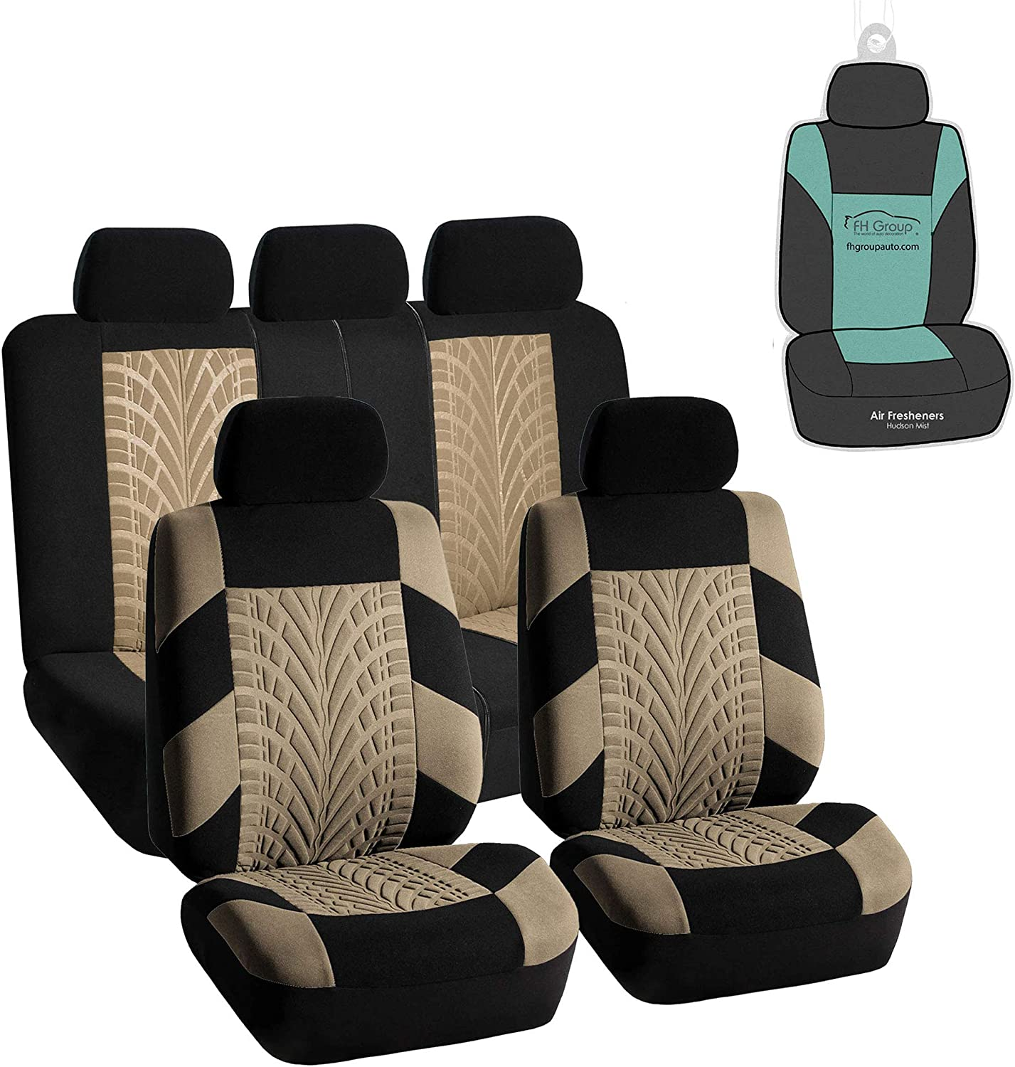 FH Group FB071115 Travel Master Seat Covers (Beige) Full Set with Gift - Universal Fit