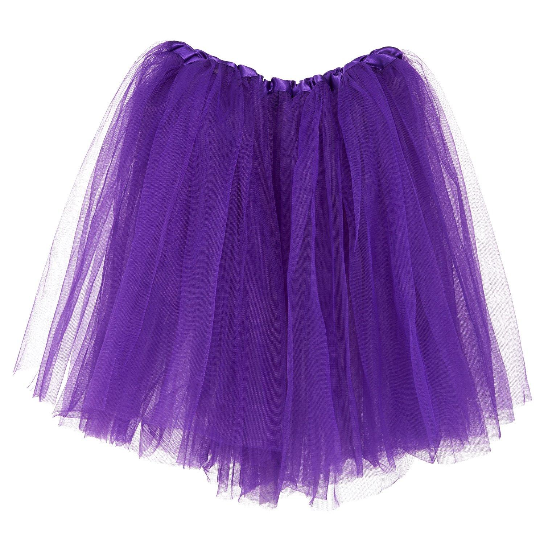 My Lello Big Girls Tutu 3-Layer Ballerina (4T-10yr) Purple