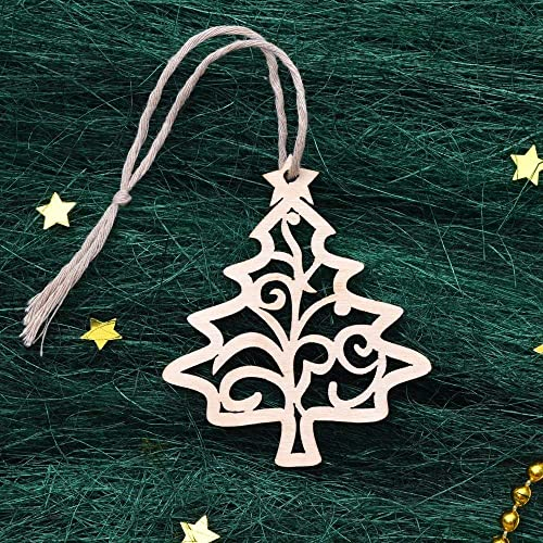 wooden christmas decorations wood christmas tree decor laser cut christmas ornaments handmade - Wooden Laser Cut Christmas Decorations