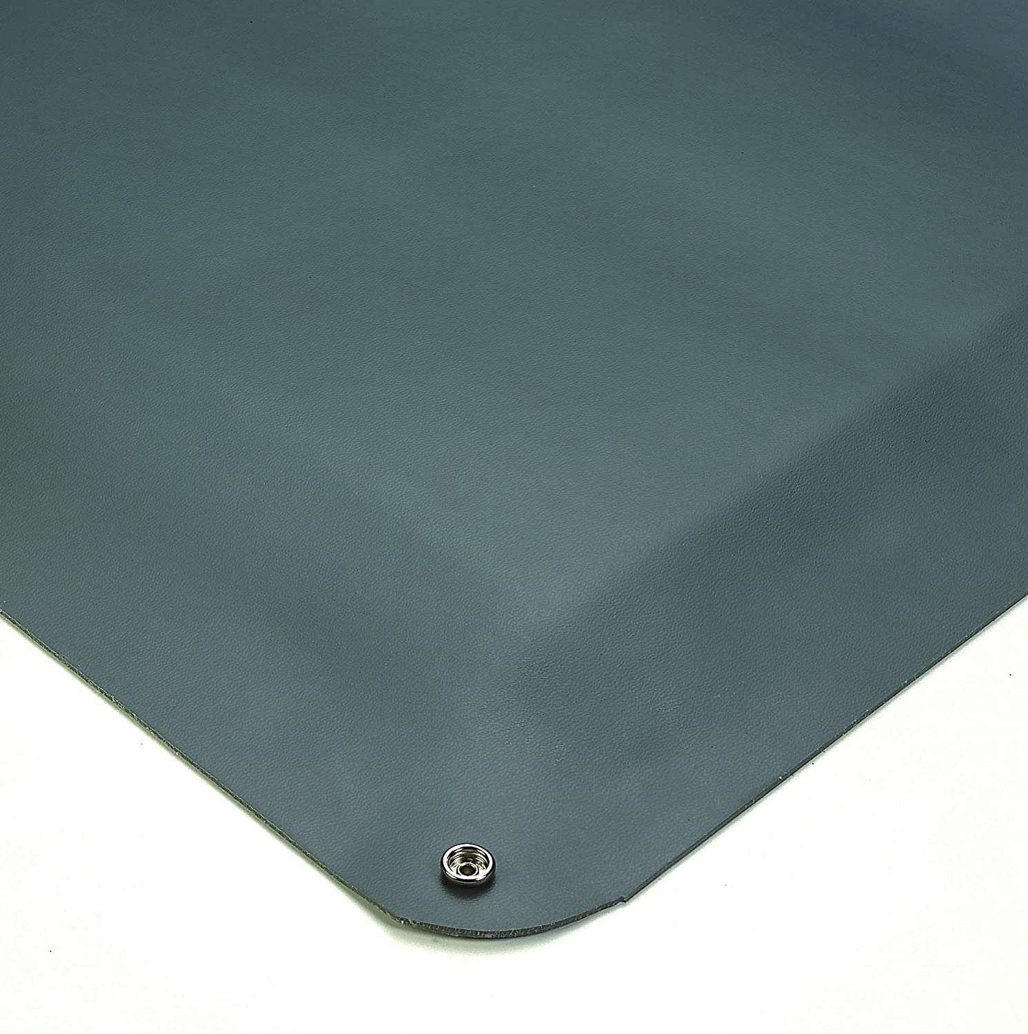 Wearwell Natural Rubber 791 Static Dissipative Anti-Fatigue Mat with Snap, Safety Beveled Edges, for Dry Areas, 3' Width x 5' Length x 1/2 Thickness, Gray by Wearwell Industrial  B00065UCKW