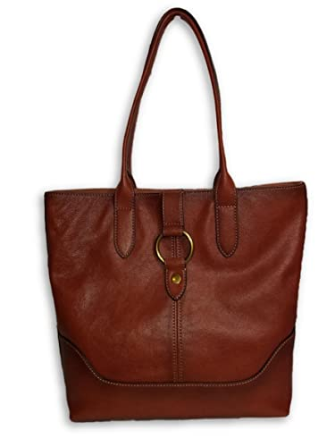 3917924430 Amazon.com  Frye Ring Cognac Leather Tote  Shoes