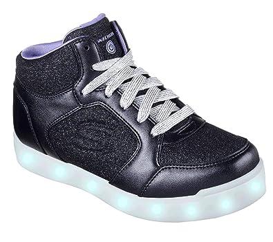 04ba5a4fa3899 Skechers Girl's Energy Lights: E-pro Glitter Glow Hi-Top Trainers