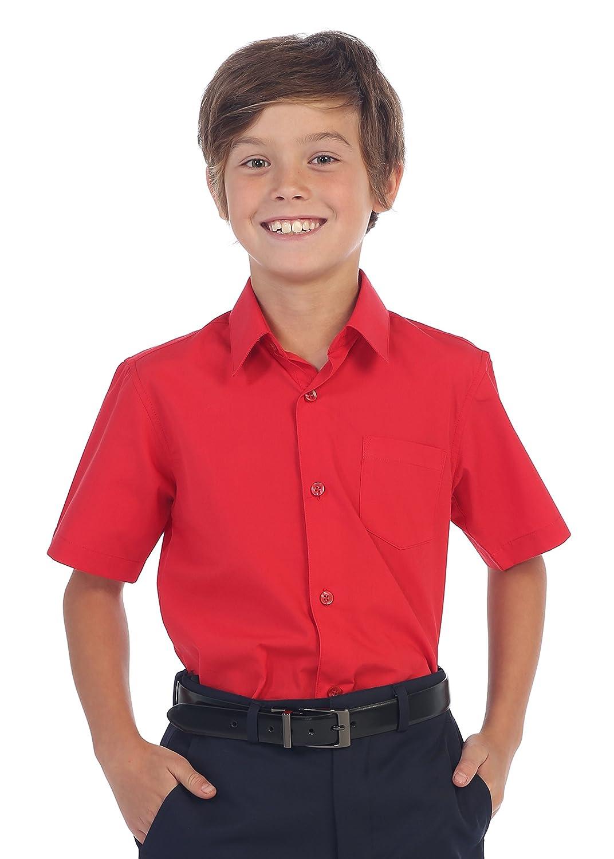 Gioberti Boy's Short Sleeve Solid Dress Shirt China DS-85S