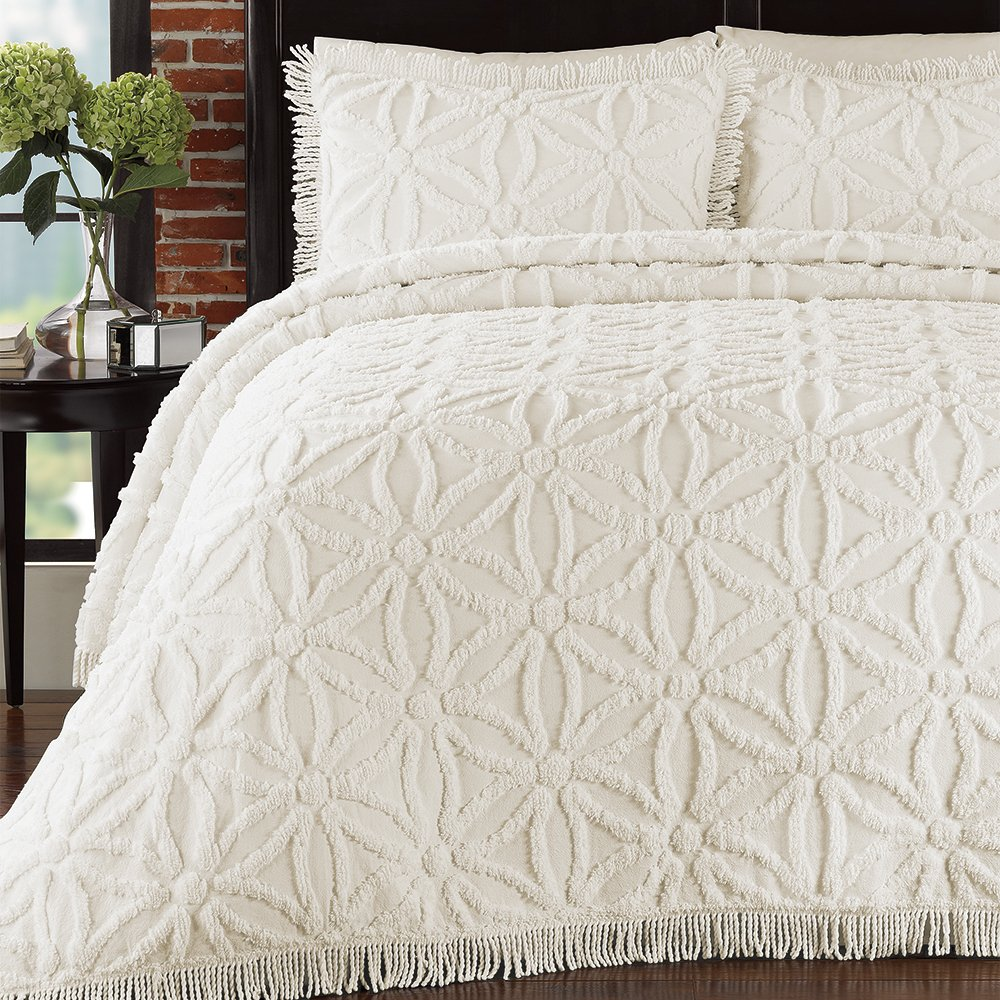 Lamont Home Arianna Bedspread, King, Ivory