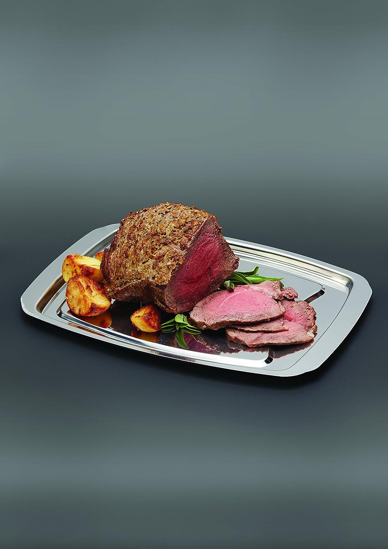Kitchen Craft KCCARVE 35,5 x 25,5/cm Bandeja de Acero Inoxidable para Carne