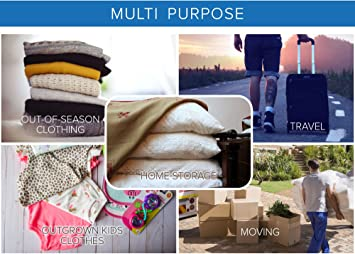 RoomierLife Premium Jumbo Space Saver Bags 40x30 inches 6-Pack Ziplock Vacuum Storage Bags